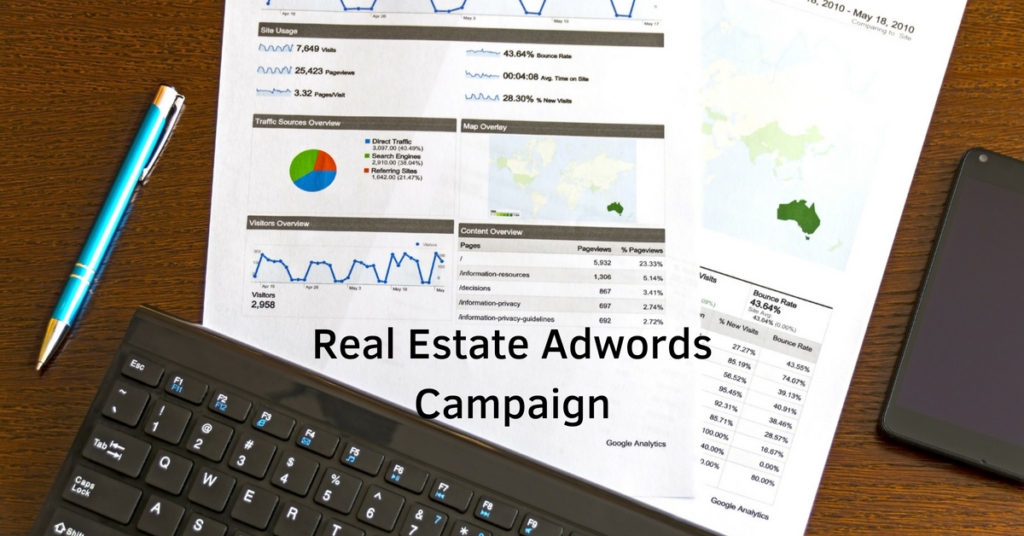 Real Estate Adwords Campaign